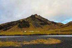 冰岛风景愚钝的天 免版税库存照片