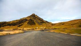 冰岛风景愚钝的天 库存照片