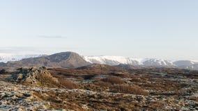 冰岛风景,火山和美丽 免版税库存图片