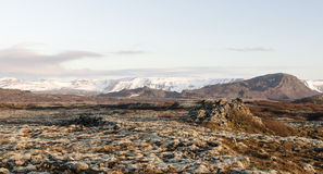 冰岛风景,火山和美丽 图库摄影