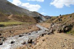 冰岛高地。 免版税图库摄影