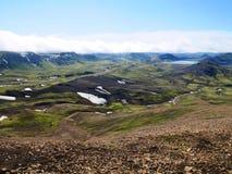 冰岛高地使看法环境美化 免版税库存图片
