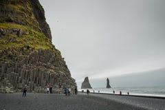冰岛,比克村庄,海滩 免版税库存图片