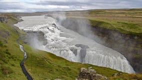 冰岛,金黄圈子和古佛斯瀑布 免版税库存图片