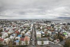 冰岛,雷克雅未克看法  图库摄影