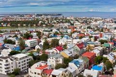 冰岛,雷克雅未克,看法的首都 免版税库存图片