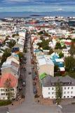 冰岛,雷克雅未克,看法的首都 库存图片