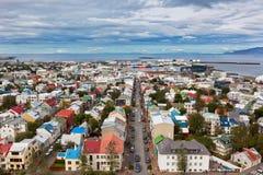 冰岛,雷克雅未克,看法的首都 免版税图库摄影