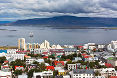 冰岛,雷克雅未克,看法的首都 免版税库存照片