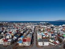 冰岛, 2015年3月:在雷克雅未克的看法 免版税库存照片