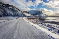 冰岛, Vestrahorn登上 库存图片