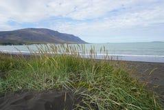 冰岛-在Saudarkrokur的海滩 图库摄影