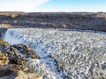 冰岛-壮观的Detifoss瀑布 库存照片