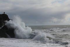 冰岛 大西洋顶视图 风暴 库存照片