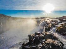 冰岛-瀑布Detifoss 免版税库存图片
