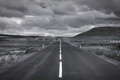 冰岛黑白色 免版税库存图片