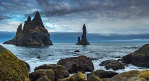 冰岛黑色海滩在比克 免版税库存照片