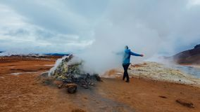 冰岛-蒸喷气孔 库存照片