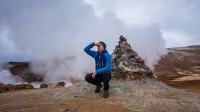 冰岛-蒸喷气孔 免版税图库摄影
