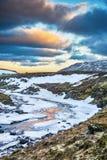 冰岛` s高地的冻河 免版税库存照片