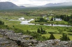 冰岛- Thingvellir国家公园-金黄圈子 免版税图库摄影
