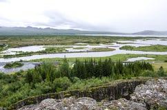 冰岛- Thingvellir国家公园-金黄圈子 库存图片