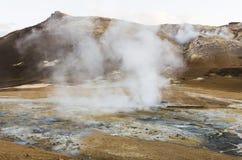 冰岛geysir在夏天 库存图片