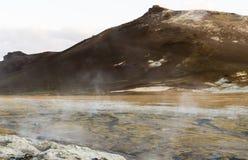 冰岛geysir在夏天 免版税图库摄影