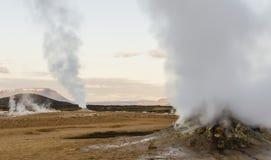 冰岛geysir在夏天 免版税库存照片