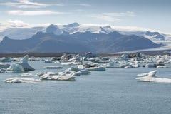 冰岛jokulsarlon湖 免版税图库摄影