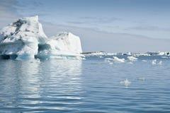 冰岛jokulsarlon湖 库存图片