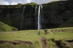 冰岛seljalands瀑布 库存图片