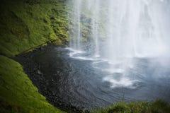 冰岛seljalands瀑布 免版税图库摄影