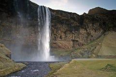 冰岛seljalandsfoss 免版税图库摄影