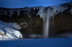 冰岛seljalandsfoss 库存照片
