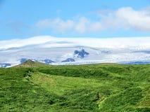 冰岛Skaftafell国家公园山2017年 免版税库存照片
