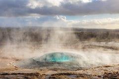 冰岛strokkur geysir 库存照片