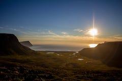 冰岛westfjords 库存照片