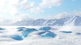 冰岩石 影视素材