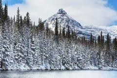 冰川公园在冬天 免版税库存图片