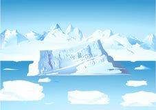 冰川冰山 皇族释放例证
