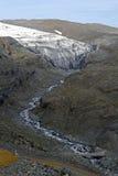 冰川冰岛谷 免版税库存图片