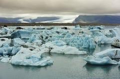 冰川冰岛jokulsarlon湖 免版税图库摄影