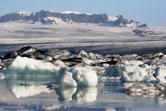 冰川冰岛jokusarlon盐水湖 图库摄影