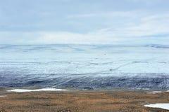 冰川冰岛langjokull 免版税库存图片