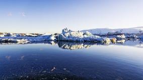 冰川冰Jokulsarlon盐水湖冰岛 免版税库存图片