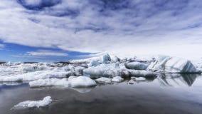 冰川冰Jokulsarlon盐水湖冰岛 库存照片
