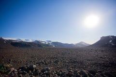 冰川南部冰岛的langjokull 免版税库存照片