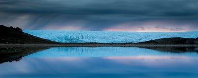 冰川反射,格陵兰 库存图片