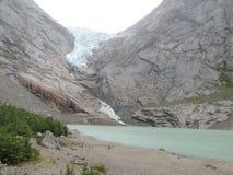 冰川和湖的图片 免版税库存图片